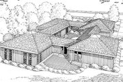 Ranch Style House Plan - 3 Beds 2 Baths 2194 Sq/Ft Plan #312-505 Exterior - Rear Elevation