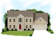 European Exterior - Front Elevation Plan #56-206