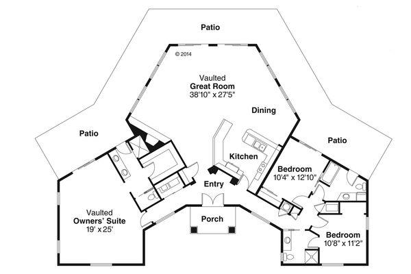 House Plan Design - Floor Plan - Main Floor Plan #124-981