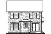 European Style House Plan - 4 Beds 2.5 Baths 1823 Sq/Ft Plan #23-600 Exterior - Rear Elevation