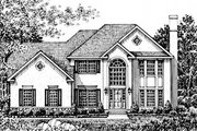 Traditional Style House Plan - 4 Beds 3 Baths 2577 Sq/Ft Plan #12-246 Exterior - Front Elevation
