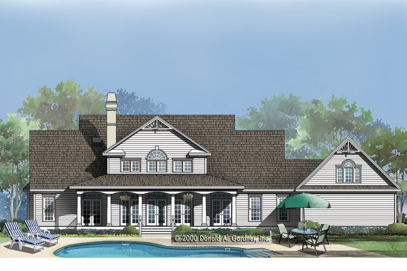 Country Exterior - Rear Elevation Plan #929-18 - Houseplans.com