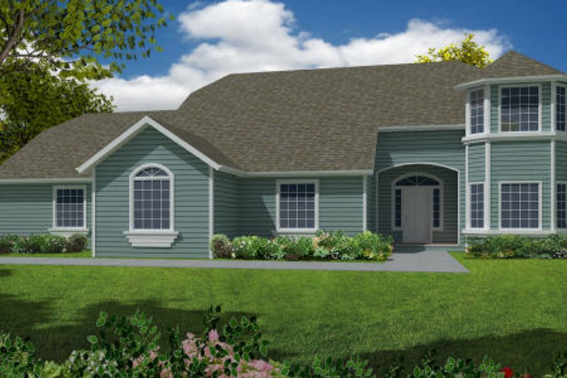 Country Exterior - Front Elevation Plan #437-32