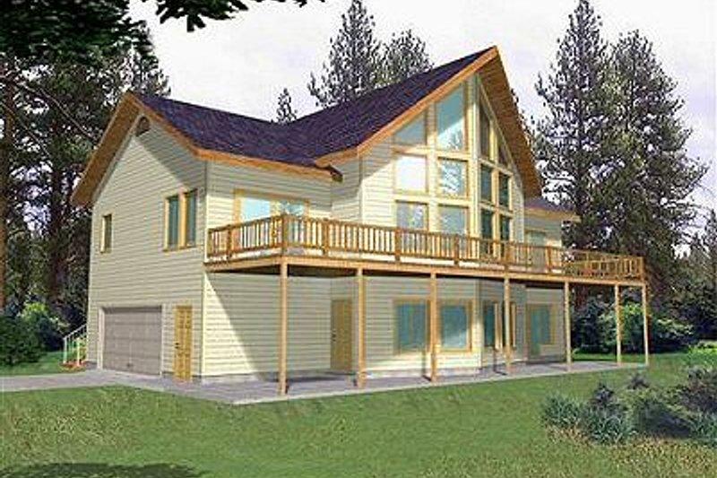 Bungalow Exterior - Front Elevation Plan #117-511 - Houseplans.com