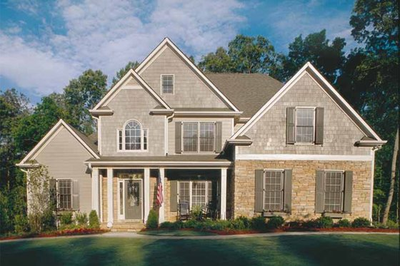 Country Exterior - Front Elevation Plan #927-8