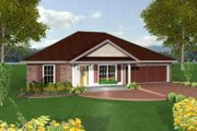 Southern Style House Plan - 3 Beds 2 Baths 1551 Sq/Ft Plan #44-136 Exterior - Front Elevation