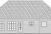 Traditional Style House Plan - 3 Beds 2 Baths 1606 Sq/Ft Plan #21-158 Exterior - Rear Elevation