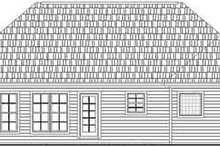 Home Plan - Traditional Exterior - Rear Elevation Plan #21-158