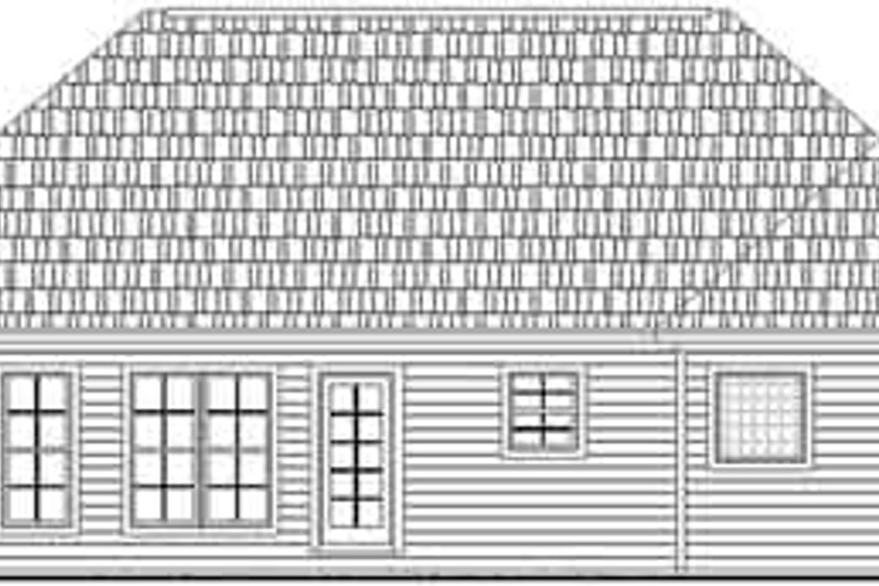 Traditional Exterior - Rear Elevation Plan #21-158 - Houseplans.com