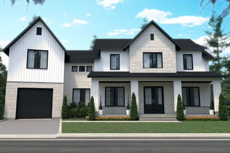 House Plan Design - Farmhouse Exterior - Front Elevation Plan #23-2742