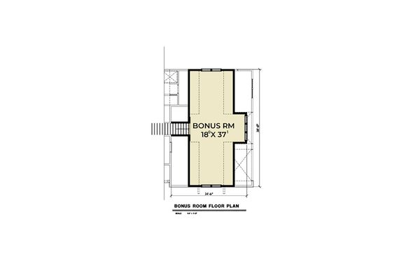 Farmhouse Floor Plan - Other Floor Plan Plan #1070-31