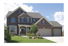 Dream House Plan - Traditional Exterior - Front Elevation Plan #320-498
