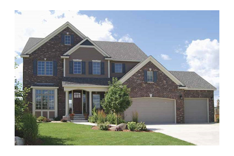 Traditional Exterior - Front Elevation Plan #320-498 - Houseplans.com