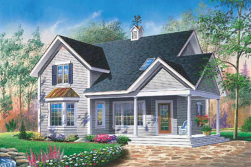 Cottage Exterior - Front Elevation Plan #23-2147