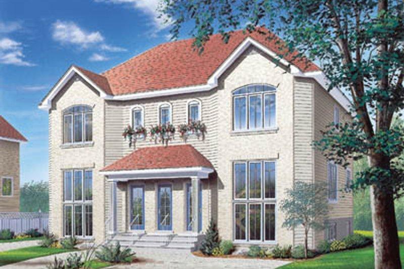Architectural House Design - European Exterior - Front Elevation Plan #23-2054