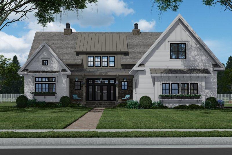 Dream House Plan - Farmhouse Exterior - Front Elevation Plan #51-1156