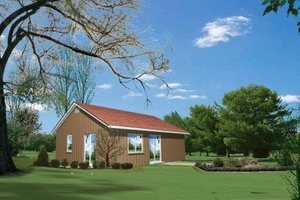 Cottage Exterior - Front Elevation Plan #1-118