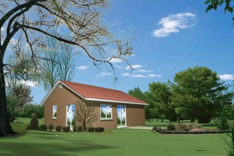 Cottage Style House Plan - 1 Beds 1 Baths 600 Sq/Ft Plan #1-118 Exterior - Front Elevation