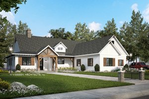 Farmhouse Exterior - Front Elevation Plan #928-356
