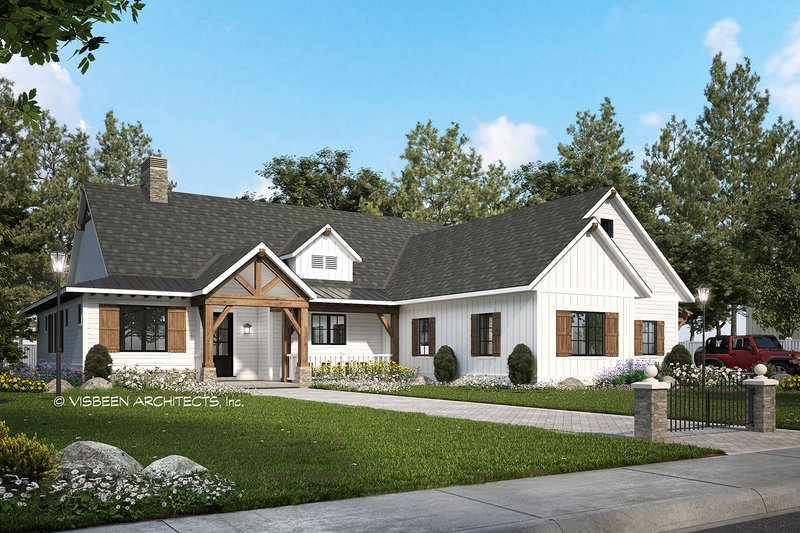 Home Plan - Farmhouse Exterior - Front Elevation Plan #928-356