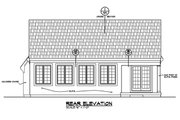 Ranch Style House Plan - 3 Beds 2 Baths 2120 Sq/Ft Plan #20-2285 Exterior - Rear Elevation