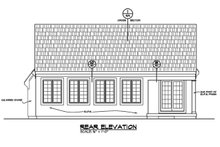 House Plan Design - Ranch Exterior - Rear Elevation Plan #20-2285