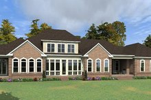 House Plan Design - Colonial Exterior - Rear Elevation Plan #63-426