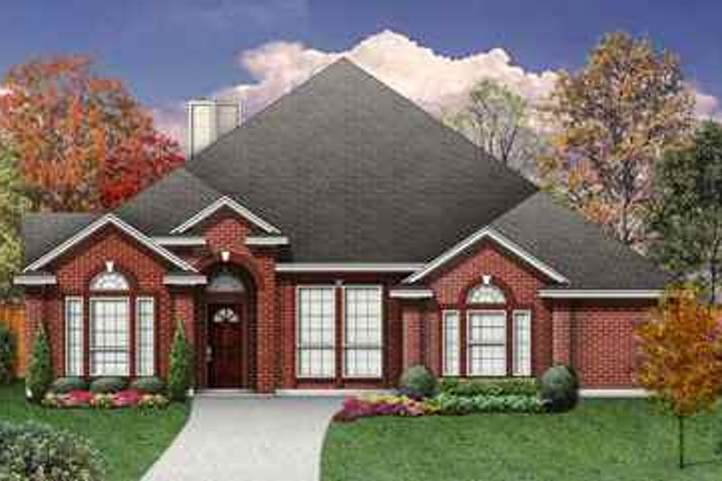 Traditional Exterior - Front Elevation Plan #84-138 - Houseplans.com