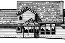 Farmhouse Exterior - Rear Elevation Plan #20-208