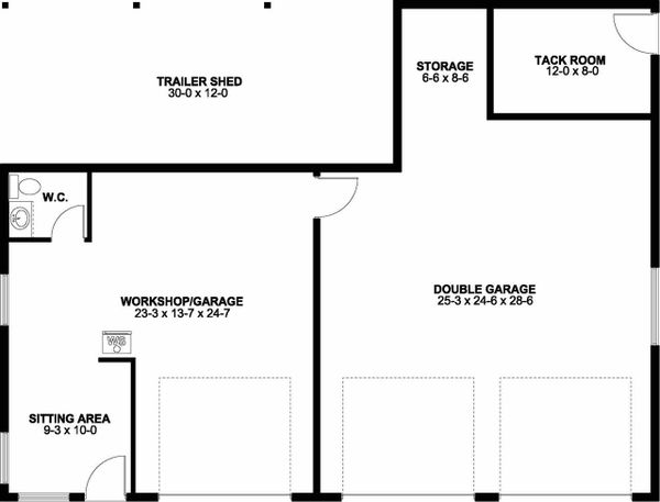 Ranch Floor Plan - Main Floor Plan Plan #126-205