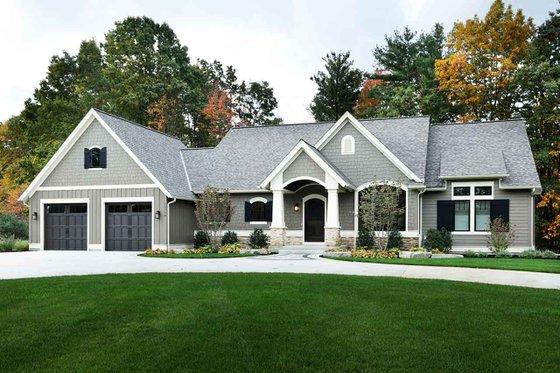 Craftsman Exterior - Front Elevation Plan #928-318