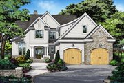 Country Style House Plan - 4 Beds 4.5 Baths 3418 Sq/Ft Plan #929-1060 Exterior - Front Elevation
