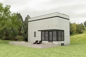 Modern Exterior - Front Elevation Plan #914-1