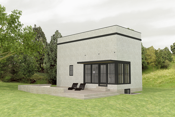 Modern Exterior - Front Elevation Plan #914-1