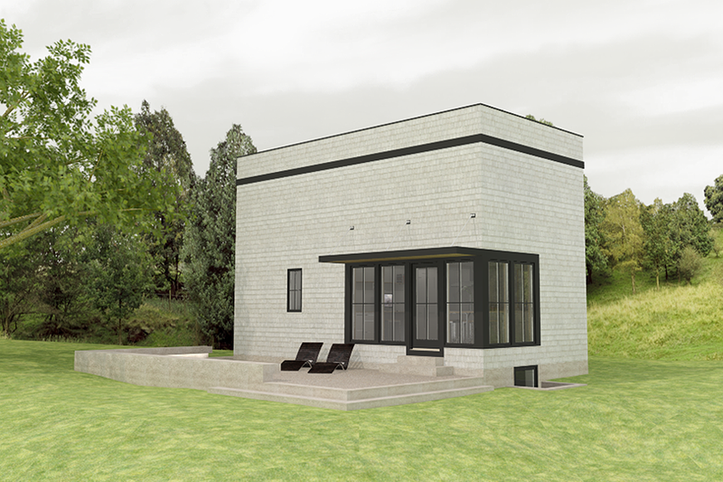 Modern Style House Plan - 1 Beds 1 Baths 1150 Sq/Ft Plan #914-1 Exterior - Front Elevation