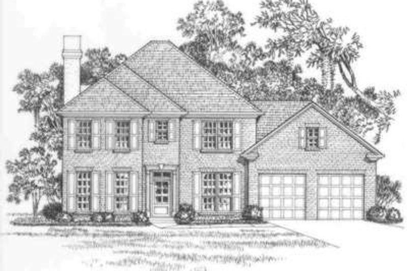 Traditional Exterior - Front Elevation Plan #325-265 - Houseplans.com