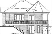 Victorian Style House Plan - 1 Beds 1 Baths 840 Sq/Ft Plan #23-161 Exterior - Rear Elevation