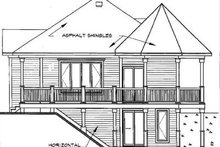 Architectural House Design - Victorian Exterior - Rear Elevation Plan #23-161
