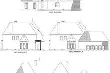House Plan Design - European Exterior - Rear Elevation Plan #17-2278