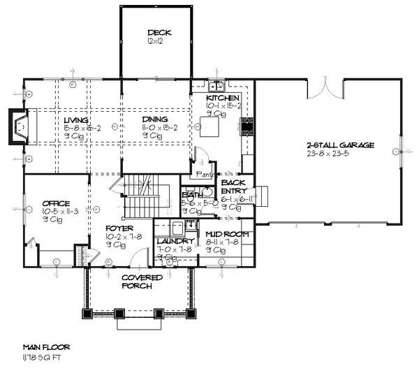 House Plan Design - Traditional Floor Plan - Main Floor Plan #901-24