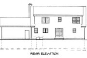 Ranch Style House Plan - 3 Beds 2.5 Baths 2047 Sq/Ft Plan #75-175 Exterior - Rear Elevation