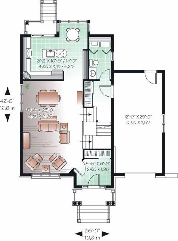European Floor Plan - Main Floor Plan Plan #23-818