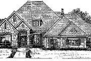 European Style House Plan - 4 Beds 3.5 Baths 2790 Sq/Ft Plan #310-742 Exterior - Front Elevation