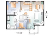 Ranch Style House Plan - 2 Beds 1 Baths 1179 Sq/Ft Plan #23-2678 Floor Plan - Main Floor Plan