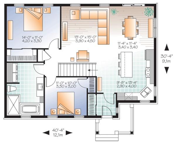 House Plan Design - Ranch Floor Plan - Main Floor Plan #23-2678