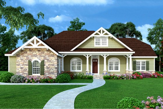 Craftsman Exterior - Other Elevation Plan #456-33