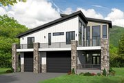 Contemporary Style House Plan - 2 Beds 2 Baths 1850 Sq/Ft Plan #932-217 Exterior - Front Elevation