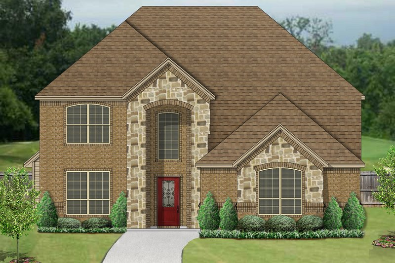 Traditional Style House Plan - 5 Beds 2.5 Baths 2538 Sq/Ft Plan #84-631 Exterior - Front Elevation