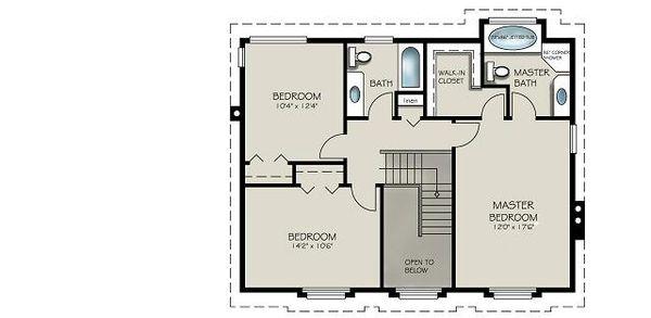Country Floor Plan - Upper Floor Plan Plan #427-2