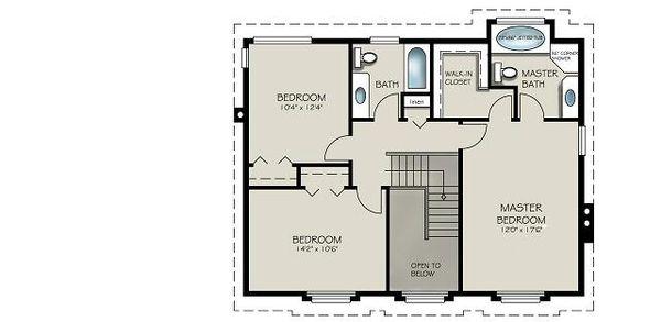 House Design - Country Floor Plan - Upper Floor Plan #427-2